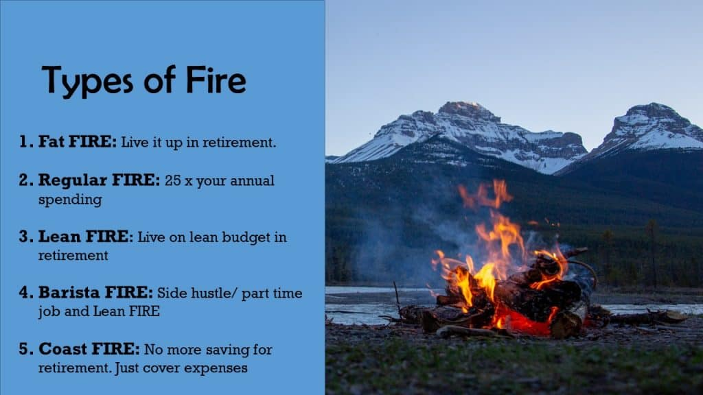 5 types of FIRE