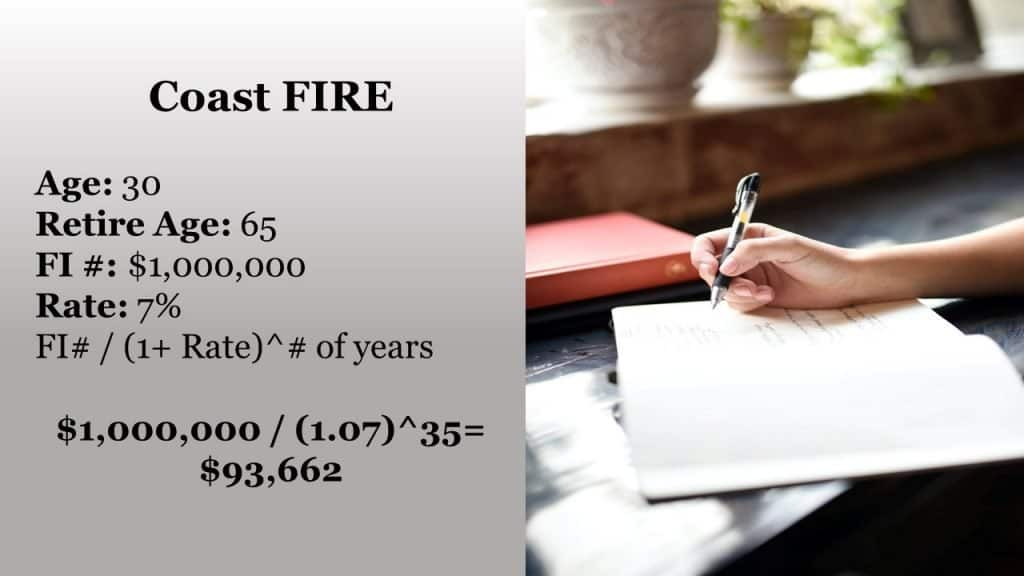 Coast FIRE calculation