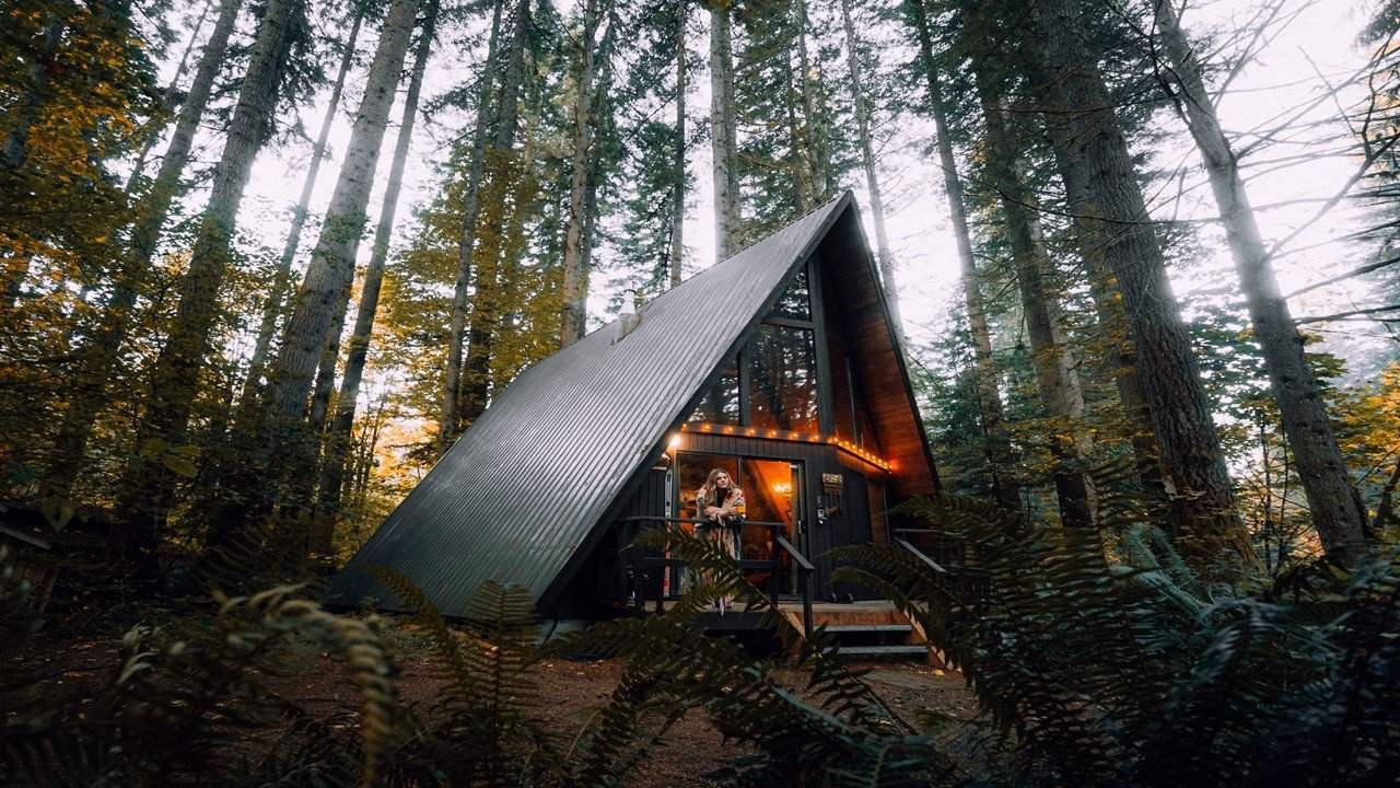 Airbnb house in the woods